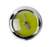 Modern Clock on White Stock Photo