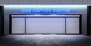 Modern closed car service Stock Photo