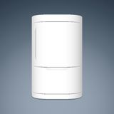Modern closed white two door refrigerator Royalty Free Stock Image