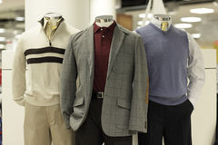 Modern clothed mannequins Royalty Free Stock Images