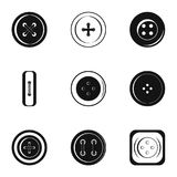 Modern clothes button icon set, simple style. Modern clothes button icon set. Simple set of 9 modern clothes button vector icons for web isolated on white Royalty Free Stock Photo