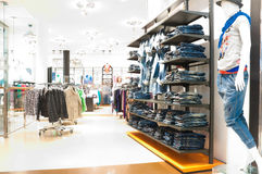 Modern clothes shop Royalty Free Stock Image
