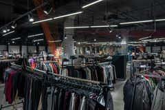 Free Modern Clothes Shop With Large Selection Of Different Wear And Shoes Stock Photo - 144488770