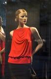 Modern clothing shop window Royalty Free Stock Image