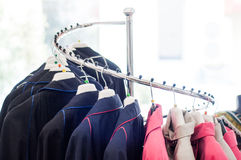 Modern clothing stand Royalty Free Stock Photo