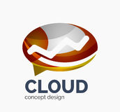 Modern cloud logo Royalty Free Stock Images
