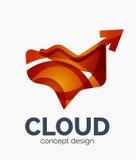 Modern cloud logo Royalty Free Stock Image