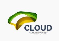 Modern cloud logo Stock Photos