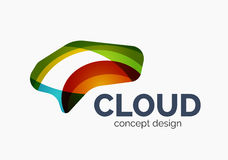 Modern cloud logo Stock Images