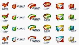 Modern cloud logo set Stock Photos