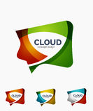 Modern cloud logo set Royalty Free Stock Photography