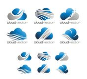 MODERN CLOUD LOGO VECTOR Royalty Free Stock Images