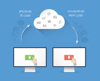 Modern cloud storage business  illustration concep Royalty Free Stock Images