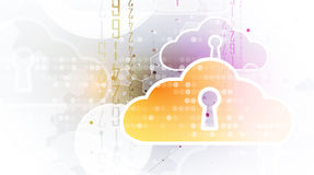 Modern cloud technology. Integrated digital web concept Stock Photo