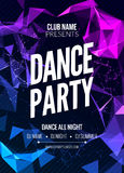 Modern Club Music Party Template, Dance Party Flyer, brochure. Night Party Club sound Banner Poster. Modern Club Music Party Template, Dance Party Flyer Royalty Free Stock Images