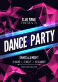 Modern Club Music Party Template, Dance Party Flyer, brochure. Night Party Club sound Banner Poster. Modern Club Music Party Template, Dance Party Flyer Stock Photo