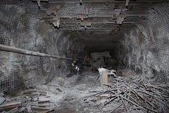 Modern coal mine underground Royalty Free Stock Images