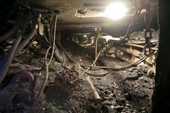Modern coal mine underground Stock Images