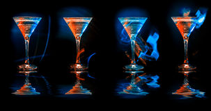 Modern cocktails in glasses Royalty Free Stock Photography