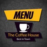 Modern Coffee House Menu Card Design template Stock Photos