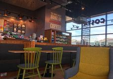 Free Modern Coffee House Or Cafe. Costa. Stock Photo - 93212080