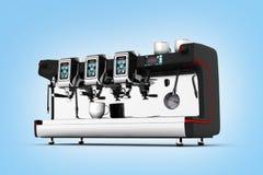 Modern Coffee Machine on blue gradient background 3d. Modern Coffee Machine on blue gradient background royalty free illustration