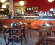 Modern coffee shop in United Kingdom stock photos