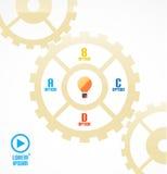 Modern cogwheel presentation template Stock Image