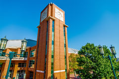 Modern college campus buildings Royalty Free Stock Images