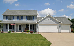 Modern colonial style home. Image of a modern colonial style home Stock Photos