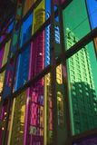 Modern color building3. One of the wall of Montreal Conference Palace Stock Images