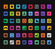 Modern color icons collection Stock Images