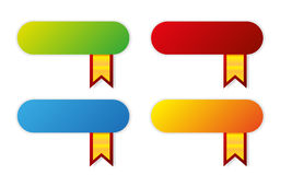 Modern color  icons with ribbons Stock Image