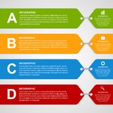 Modern color infographic options banner. Stock Photos
