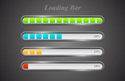 Modern color loading bars set. On grey background Stock Image