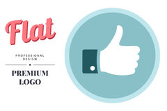 Modern color social media icon design. Vector round sign template Stock Photo