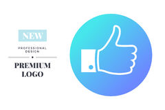 Modern color social media icon design. Vector round sign template Royalty Free Stock Images