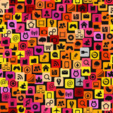 Modern color social media icons Stock Photography