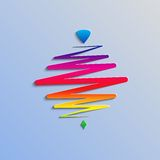 Modern color whirligig, on an abstract background Royalty Free Stock Image