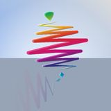 Modern color whirligig, on an abstract background Royalty Free Stock Photography