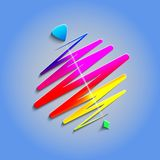Modern color whirligig, on an abstract background Royalty Free Stock Images