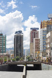 Modern colored buildings in La Paz in Bolivia, South America Stock Photography