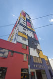 Modern colored buildings in La Paz in Bolivia, South America Royalty Free Stock Photos