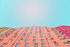 Modern colored buildings. royalty free stock photo