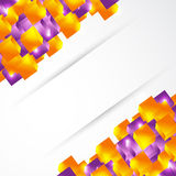 Colored cubes presentation Royalty Free Stock Images