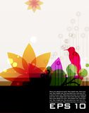Modern colored floral background Royalty Free Stock Photo
