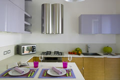 Modern colored kitchen Royalty Free Stock Photo