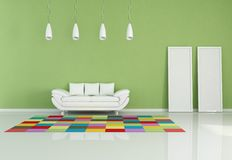Modern colored living room Stock Photo