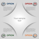Modern colored options progress background Royalty Free Stock Photography