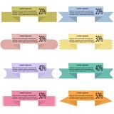 Modern colored ribbons and banners for your text Stock Image